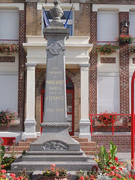 Morcourt (Aisne) monument aux morts 1918