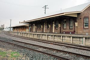 Moree, New South Wales - Moree railway station, February 2007