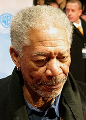 "A photograph of Freeman attending the 2008 premiere of ""The Bucket List"" in Germany"