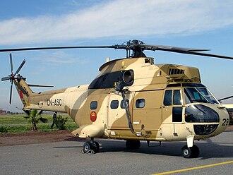 Royal Moroccan Air Force - A Royal Moroccan SA330 Puma helicopter