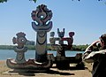 Mosaic-Covered Sculptures in Karaganda's Central Park (7519817980).jpg