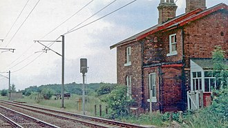 Moss railway station - Remains of Moss station in 1992