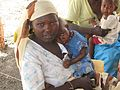 Mother with child in the Jamam refugee camp in South Sudan.jpg