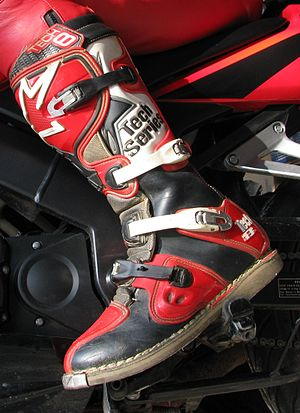 Motorcycle boot - A motocross boot.