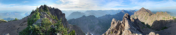 View from Mount Ellinor, Washington, US