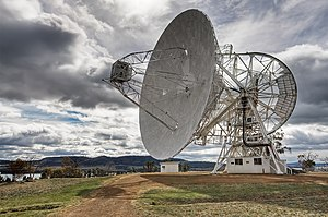The 26m Radio Telescope at Mount Pleasant Radio Observatory, Tasmania, Australia
