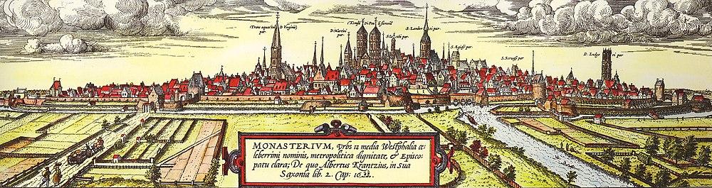 Исторический вид на город. Георг Браун и Франц Хогенберг (м. 1572 и 1618).