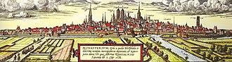 History of Münster - Image: Muenster Braun Hogenberg