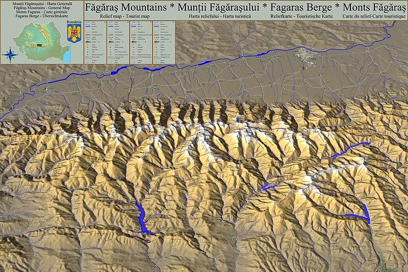 File:Muntii Fagarasului, harta turistica si a reliefului.jpg