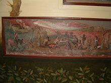 Scena di pigmei che, durante un banchetto, assistono ad uno spettacolo sessuale