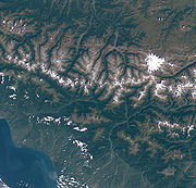 Satellite picture of Mount Elbrus