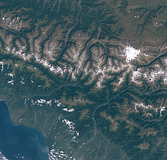 Mount Elbrus - Satellite picture of Mount Elbrus