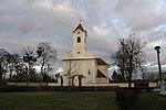 Catholic parish church hl.  Helena and former cemetery