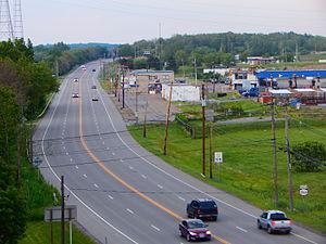 New York State Route 266 - NY 266 as seen from the South Grand Island Bridge heading through Tonawanda