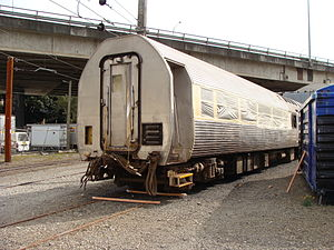 NZR RM class (Silver Fern) - Silver Fern RM30 under refurbishment at the Wellington Passenger Depot, April 2009.