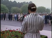 File:Nancy Reagan's Remarks at Omaha Beach Cemetery in France on June 6, 1982.webm