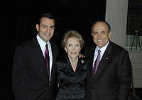 Giuliani with Congressman Vito Fossella and former First Lady Nancy Reagan, 2002