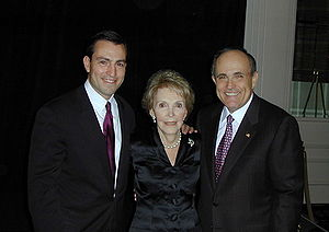 Vito Fossella - Vito Fossella, Nancy Reagan, and Rudy Giuliani.