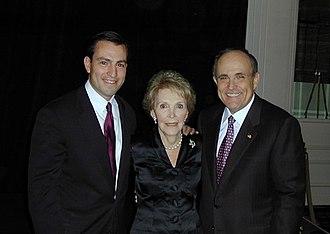 Vito Fossella - Vito Fossella, Nancy Reagan, and Rudy Giuliani in 2002.