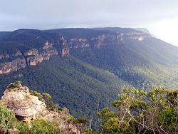 Narrow Neck Plateau in the rain.JPG