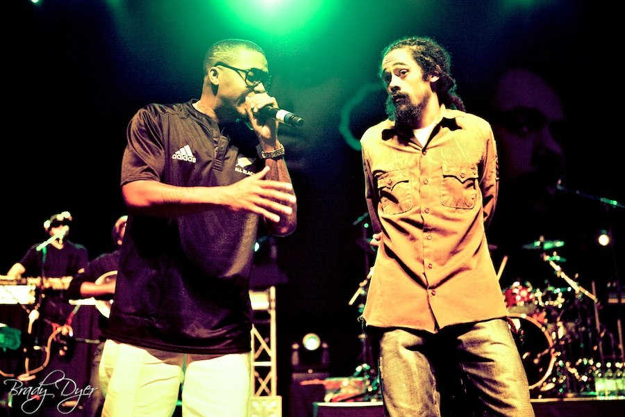Nas and Damian Marley performing in Wellington Photo By Brady Dyer
