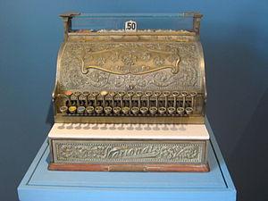 NCR Corporation - Old National Cash Register on display at the Museo de la Secretaría de Hacienda y Crédito Público in Mexico City