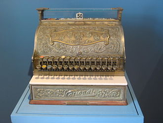 NCR Corporation - Old National Cash Register on display at the Museo de la Secretaría de Hacienda y Crédito Público in Mexico City