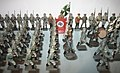 Nazi toys. Elastolin toy soldiers figurines, Germany 1930s. Hitler, Wehrmacht soldiers parading, Mussolini, etc. Museu do Brinquedo (Toy Museum) Sintra, Portugal. 30 September 2006.jpg
