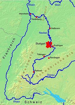 Neckarflodens forløb