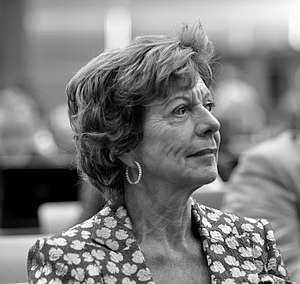 English: European Commissioner Neelie Kroes, i...