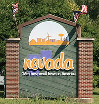 Nevada Iowa 20090816 Welcome Sign.JPG