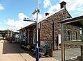 New Cumnock railway station & cafe, East Ayrshire, Scotland. View towards Sanquhar.jpg