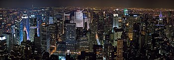 A 20 segment panoramic image of the New York M...
