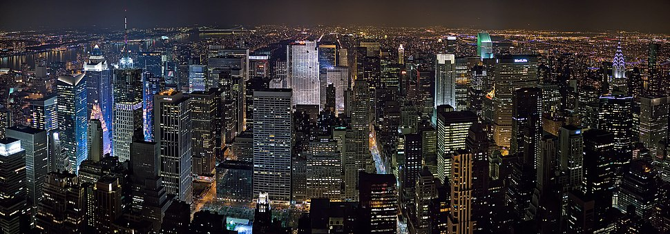 New York Midtown Skyline at night - Jan 2006 edit1