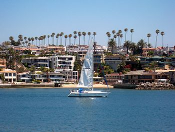 Newport Beach viewed from Jetty View Park at t...