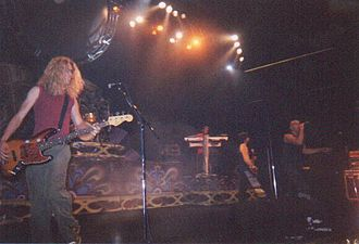 Newsboys - Newsboys at the 2001 National Lutheran Youth Gathering, with Phil Joel in the foreground