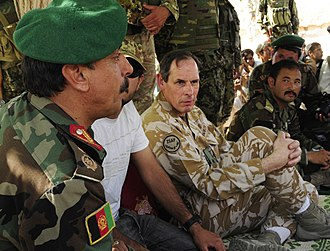 Nick Parker - Parker attending a shura in April 2010 with Afghan National Army Brigadier General Akram Sameh