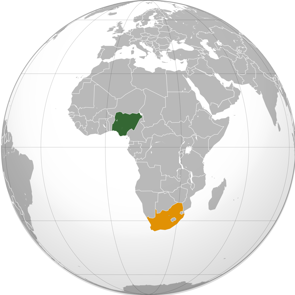 Map Of Africa Nigeria.Nigeria South Africa Relations Wikipedia