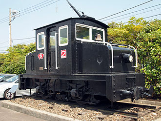 Esashi Line - Japan Cement Co. loco No. 2 was in service at Kamiiso from 1922 until 1975