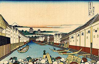 Le pont de Nihonbashi à Edo