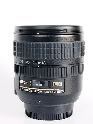 Nikon DX format - Nikkor DX lenses are marked with the DX logo.