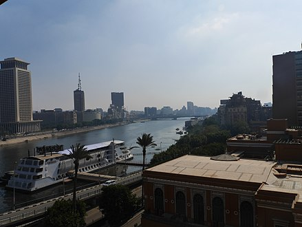 Nile view from the Cairo Marriott Hotel. Nile view from Marriott.jpg