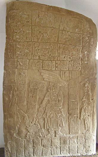 Monumental sculpture - Maya stela