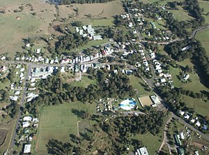 Nimbin, New South Wales - Image: Nimbin Village Aerial