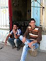 Nishapuri Boys - sited front of their store - Near Bibi Shatita Mosque 4.JPG