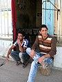 Nishapuri Boys - sited front of their store - Near Bibi Shatita Mosque 4.JPG
