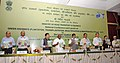Nitin Gadkari launching the Green Highways Policy 2015, at a function, in New Delhi. The Minister of State for Road Transport & Highways and Shipping, Shri P. Radhakrishnan, the Secretary.jpg