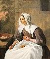 Nivaagaard Museum, Gabriël Metsu, a girl peeling apples.JPG