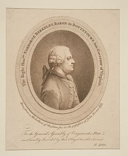 Norborne Berkeley, 4th Baron Botetourt British politician and courtier
