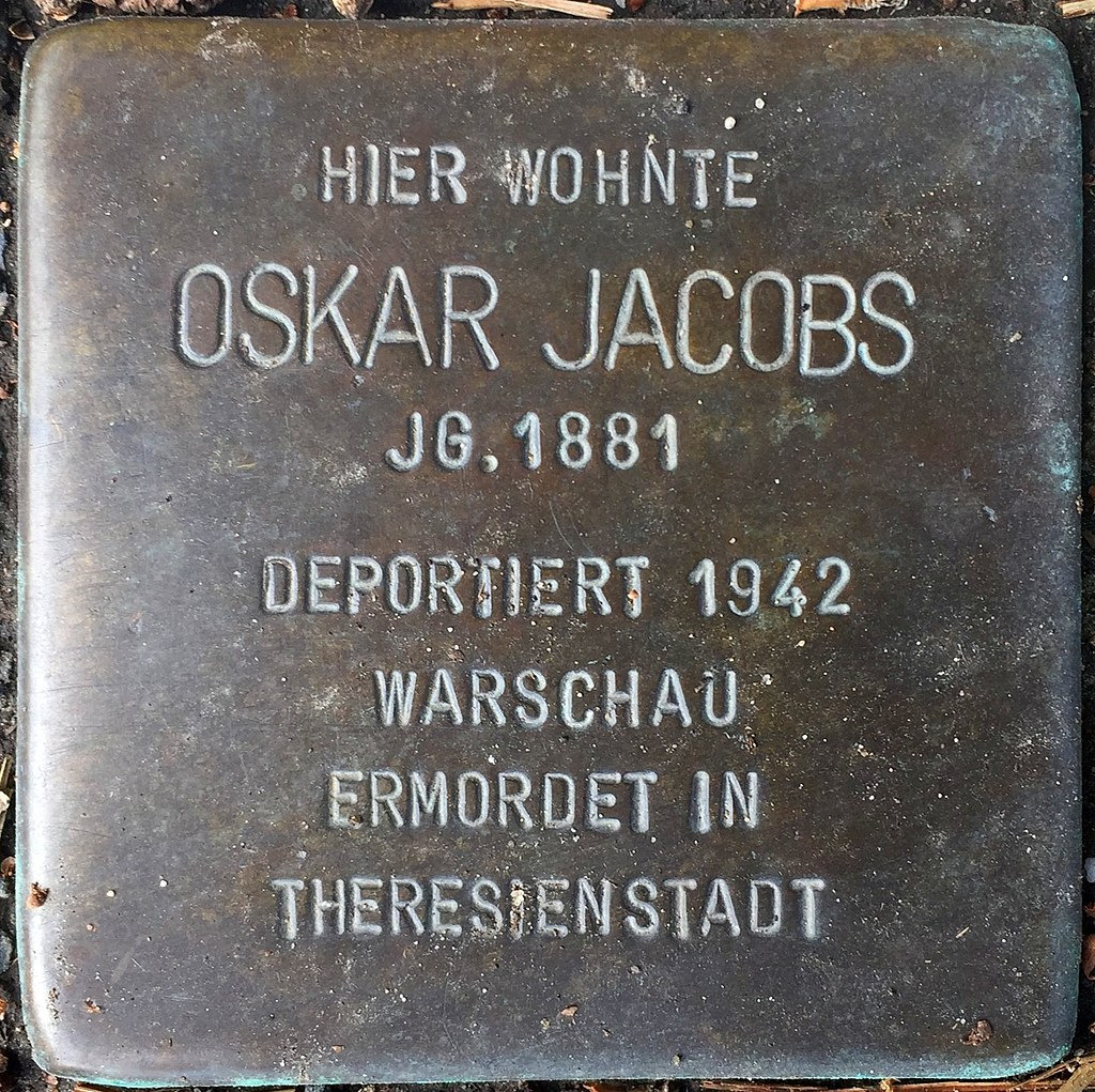 Northeim Stolperstein Oskar Jacobs.jpg